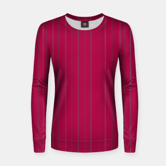 Thumbnail image of Grey stripes on magenta Women sweater, Live Heroes