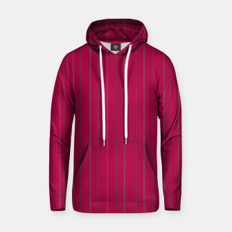 Thumbnail image of Grey stripes on magenta Hoodie, Live Heroes
