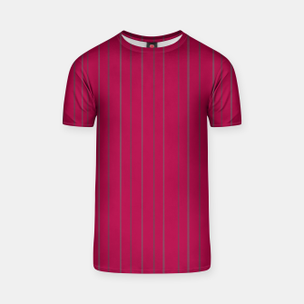 Thumbnail image of Grey stripes on magenta T-shirt, Live Heroes