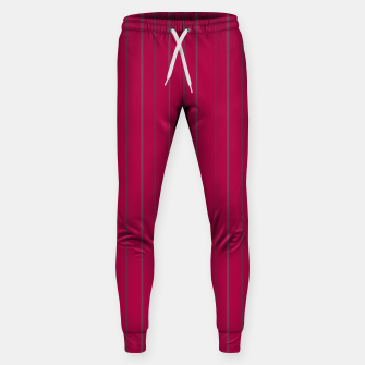 Thumbnail image of Grey stripes on magenta Sweatpants, Live Heroes