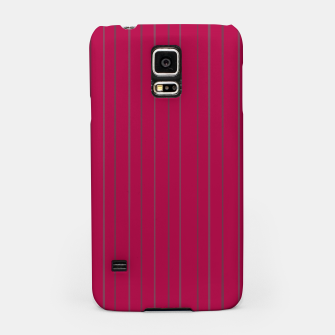 Thumbnail image of Grey stripes on magenta Samsung Case, Live Heroes