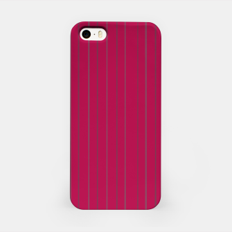 Thumbnail image of Grey stripes on magenta iPhone Case, Live Heroes