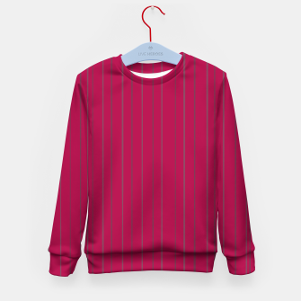 Thumbnail image of Grey stripes on magenta Kid's sweater, Live Heroes