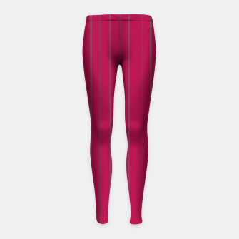 Thumbnail image of Grey stripes on magenta Girl's leggings, Live Heroes
