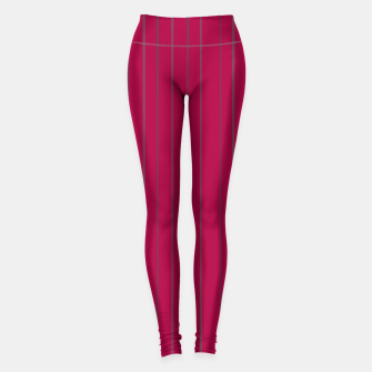 Thumbnail image of Grey stripes on magenta Leggings, Live Heroes