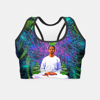 Miniatur Thought Whisps (psychedelic, meditation) Crop Top, Live Heroes
