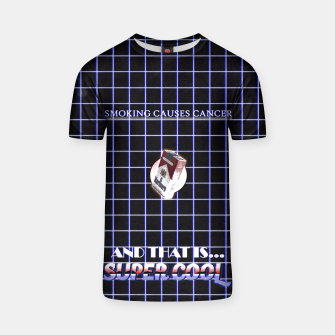 Miniaturka smoking causes cancer T-shirt, Live Heroes