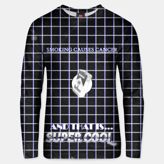 Miniaturka smoking causes cancer black white Unisex sweater, Live Heroes