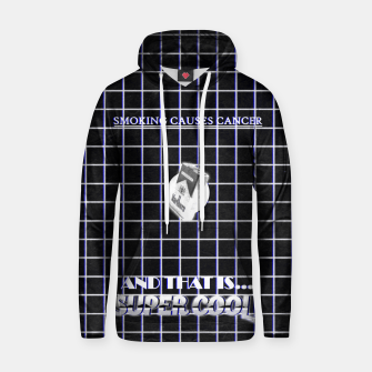 Miniaturka smoking causes cancer black white Hoodie, Live Heroes