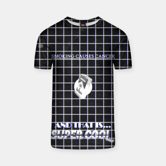 Miniaturka smoking causes cancer black white T-shirt, Live Heroes