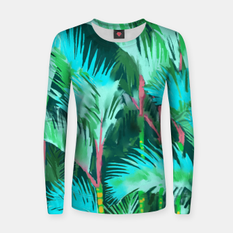 Thumbnail image of Palm Forest Women sweater, Live Heroes