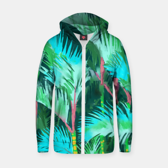 Thumbnail image of Palm Forest Zip up hoodie, Live Heroes