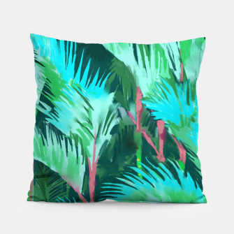 Thumbnail image of Palm Forest Pillow, Live Heroes