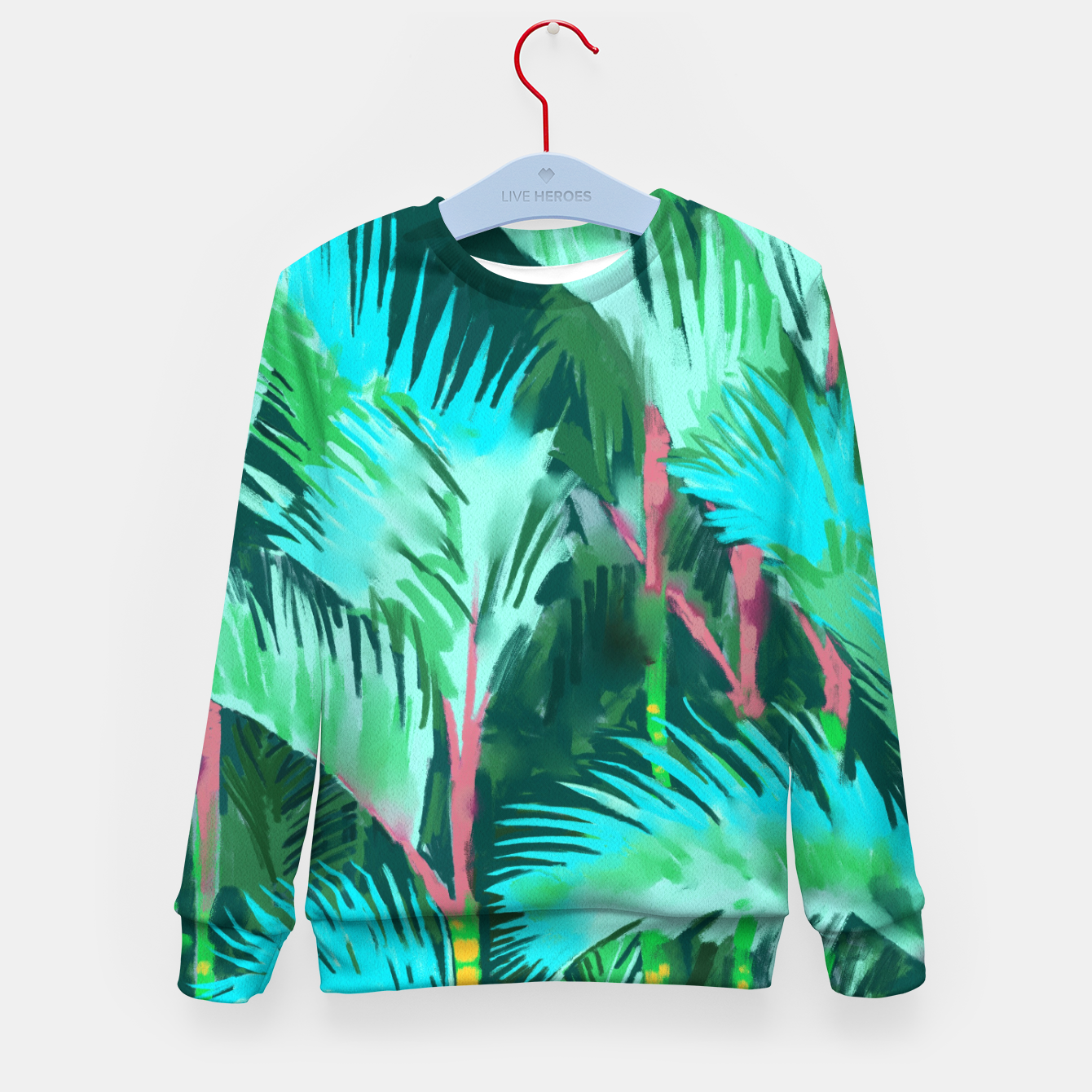 Image of Palm Forest Kid's sweater - Live Heroes