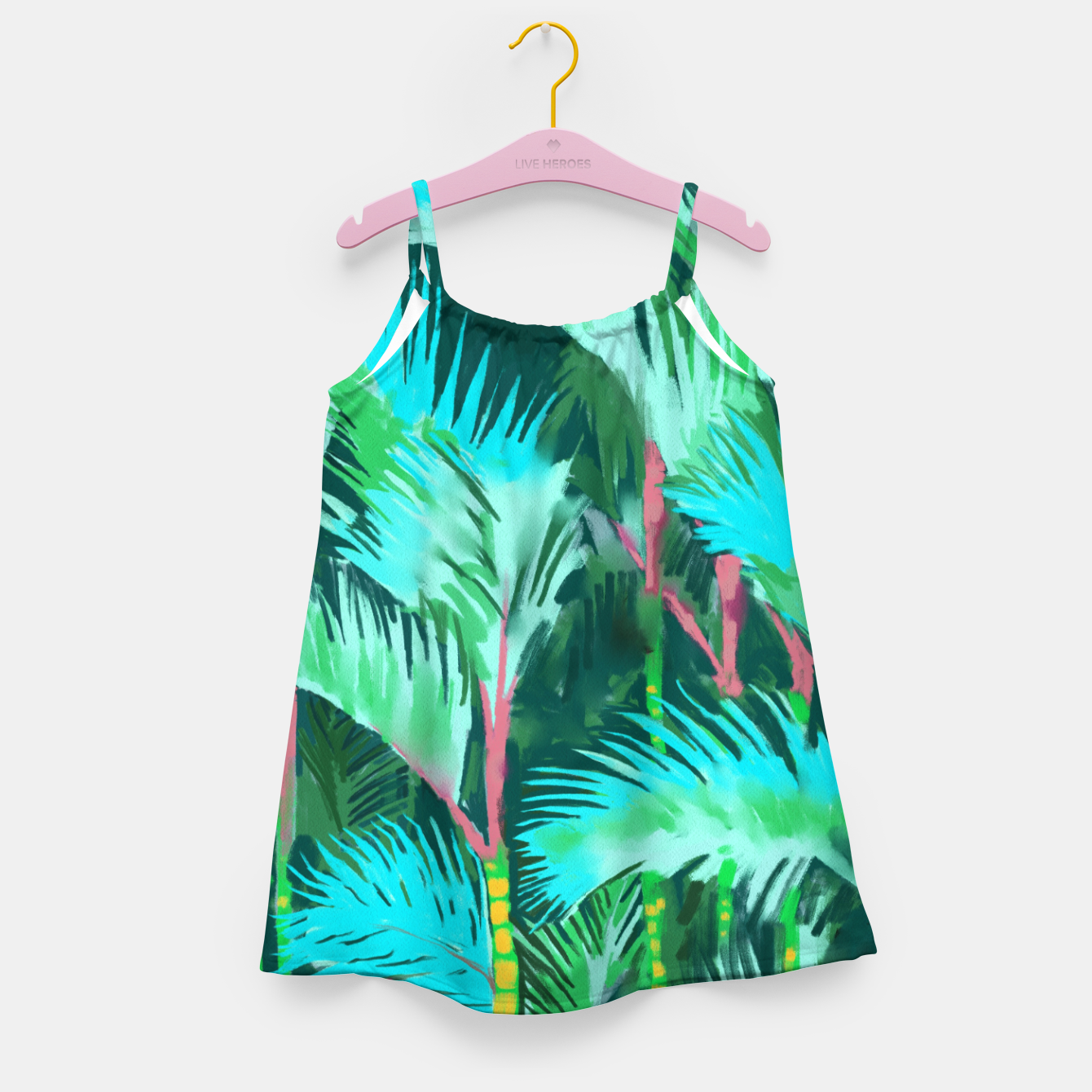 Image of Palm Forest Girl's dress - Live Heroes