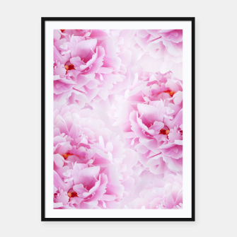 Thumbnail image of Pink Peonies Dream #2 #floral #decor #art Plakat mit rahmen, Live Heroes