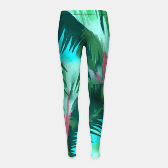Thumbnail image of Palm Forest Girl's leggings, Live Heroes