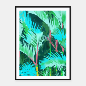 Thumbnail image of Palm Forest Framed poster, Live Heroes