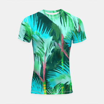 Thumbnail image of Palm Forest Shortsleeve rashguard, Live Heroes