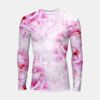 Thumbnail image of Pink Peonies Dream #2 #floral #decor #art Longsleeve rashguard, Live Heroes