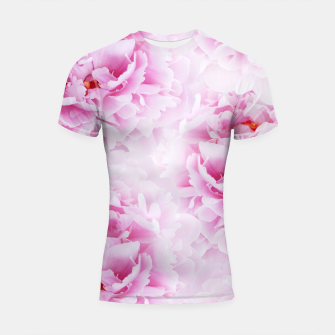 Thumbnail image of Pink Peonies Dream #2 #floral #decor #art Shortsleeve rashguard, Live Heroes