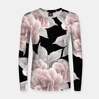 Thumbnail image of Dreamy Flowers on Black #1 #floral #decor #art Frauen sweatshirt, Live Heroes