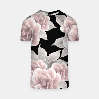 Thumbnail image of Dreamy Flowers on Black #1 #floral #decor #art T-Shirt, Live Heroes