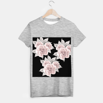 Thumbnail image of Dreamy Flowers on Black #1 #floral #decor #art T-Shirt regulär, Live Heroes