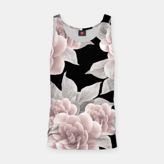 Thumbnail image of Dreamy Flowers on Black #1 #floral #decor #art Muskelshirt , Live Heroes