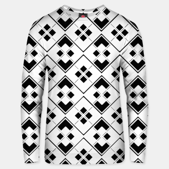 Imagen en miniatura de Abstract geometric pattern - black and white. Unisex sweater, Live Heroes