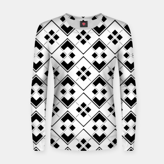 Imagen en miniatura de Abstract geometric pattern - black and white. Women sweater, Live Heroes