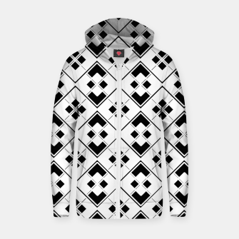 Imagen en miniatura de Abstract geometric pattern - black and white. Zip up hoodie, Live Heroes