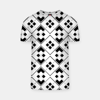 Imagen en miniatura de Abstract geometric pattern - black and white. T-shirt, Live Heroes