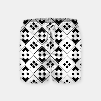 Imagen en miniatura de Abstract geometric pattern - black and white. Swim Shorts, Live Heroes