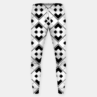 Imagen en miniatura de Abstract geometric pattern - black and white. Sweatpants, Live Heroes