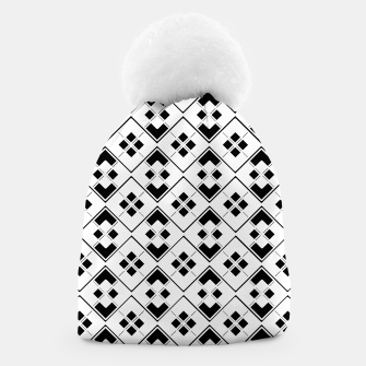 Imagen en miniatura de Abstract geometric pattern - black and white. Beanie, Live Heroes
