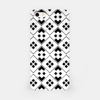 Imagen en miniatura de Abstract geometric pattern - black and white. iPhone Case, Live Heroes
