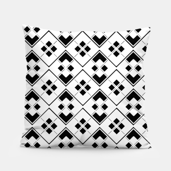 Imagen en miniatura de Abstract geometric pattern - black and white. Pillow, Live Heroes