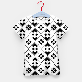 Imagen en miniatura de Abstract geometric pattern - black and white. Kid's t-shirt, Live Heroes