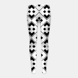 Imagen en miniatura de Abstract geometric pattern - black and white. Girl's leggings, Live Heroes