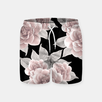Thumbnail image of Dreamy Flowers on Black #1 #floral #decor #art Badeshorts, Live Heroes