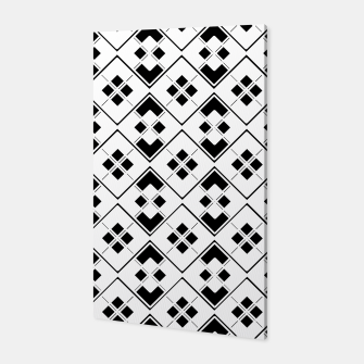 Imagen en miniatura de Abstract geometric pattern - black and white. Canvas, Live Heroes