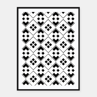 Imagen en miniatura de Abstract geometric pattern - black and white. Framed poster, Live Heroes