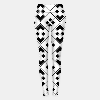 Imagen en miniatura de Abstract geometric pattern - black and white. Leggings, Live Heroes