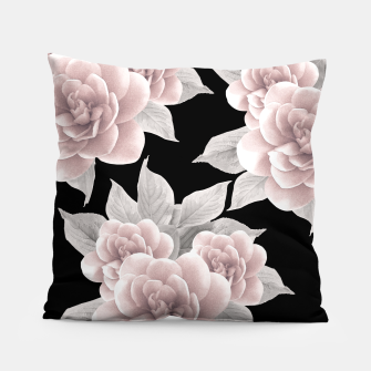 Thumbnail image of Dreamy Flowers on Black #1 #floral #decor #art Kissen, Live Heroes