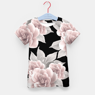Thumbnail image of Dreamy Flowers on Black #1 #floral #decor #art T-Shirt für kinder, Live Heroes