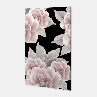 Thumbnail image of Dreamy Flowers on Black #1 #floral #decor #art Canvas, Live Heroes
