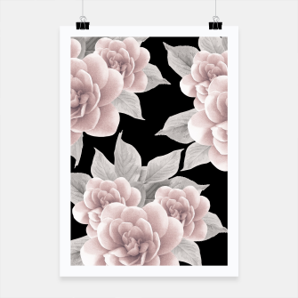 Thumbnail image of Dreamy Flowers on Black #1 #floral #decor #art Plakat, Live Heroes