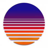VIRTUAL SUN - Synthwave, Retrowave, Vaporwave and more... logo, Live Heroes