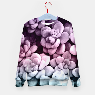 Thumbnail image of Dreamy Succulents #1 #pastel #decor #art Kindersweatshirt, Live Heroes